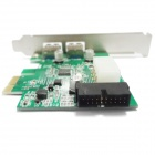 WBTUO LT-306 PCI-Express 2 USB 3.0 + Side 20 Pins Interface Express Card - Green