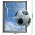 3D Football Art Wall Decal / Removable PVC Wall Sticker - White + Sky Blue
