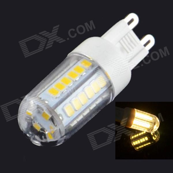 HZLED G9 3W 460lm 3000K 42 x SMD 2835 LED Warm White Light Lamp - White (220V) - DXG9<br>Color White Color BIN Warm White Brand HZLED Material Plastic + Aluminum Quantity 1 Set Power 3W Rated Voltage AC 220 V Connector Type OthersG9 Chip Brand Epistar Chip Type 2835 Emitter Type Others2835 SMD LED Total Emitters 42 Theoretical Lumens 460 lumens Actual Lumens 400~460 lumens Color Temperature 3000K Dimmable no Beam Angle 180 ° Packing List 1 x LED light<br>
