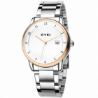 EYKI 8722 Fashionable Men's Business Waterproof Steel Quartz Analog Wrist Watch - Silver + Golden