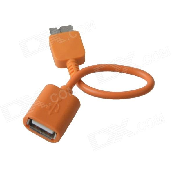 KS-365 USB 2.0 Female to Micro USB 9-Pin Male OTG Adapter Cable for Samsung Galaxy Note 3 - Orange micro usb 3 0 type b male to usb 3 0 a female adapter converter otg cable for samsung tablet