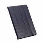 Protective 4-Section Folding Wax Paper Leather Case for IPAD AIR - Black
