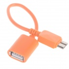KS-365 USB 2.0 Female to Micro USB 9-Pin Male OTG Adapter Cable for Samsung Galaxy Note 3 - Blue