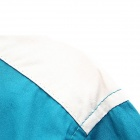 Slim Mixed Color Cotton Long-sleeved Shirt - Sky Blue (L)