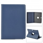 Stylish Flip-open PU Case w/ 360' Rotating Back for Samsung Galaxy Note 12.2 P900 - Blue