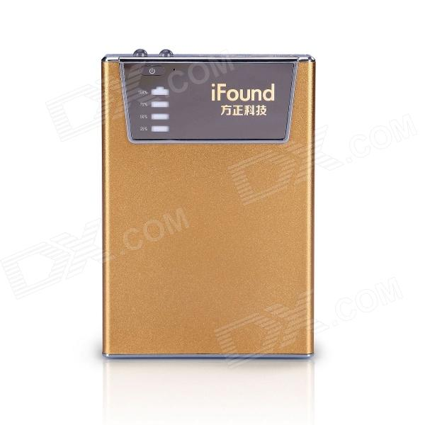 "Ifound ""8800mah"" Dual USB Mobile Power Source w / SD Card Reader / LED lommelykt - gylne"