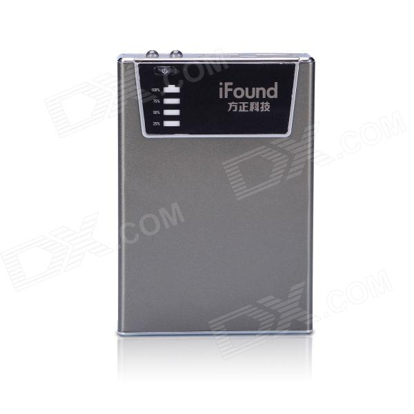 iFound 8800mAh Dual USB Mobile Power Source w/ SD Card Reader / LED Flashlight - Grey - DXMobile Power<br>1. Premium aviation aluminum alloy shell provides enhanced protection. 2. Protective design prevent from over charging over discharging and short circuit and also high temperature protective design. 3. Two flashlights for lightening super bright to cut through the darkness. 4. A convenient ON/OFF switch and LED indicators give you more flexibility and better management of the unit. 5. Built-in SD card reader 6. Quality construction and parts for long life reliable use up to 500+ battery recharge cycles. 7. Dual USB outputs. Can charging two devices simultaneously. 8. Ultra low self-consumption and built-in smart sleep mode. 9. Ultra compact and concise. Its portability allows you to carry around. 10. Universal compatibility for digital cameras tablets MP3 and MP4 player IPHONE IPAD Smartphones Android Apple Samsung. Compatible with 99% mobile phones in the market.<br>