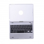 360 Degree Rotatable Cover Bluetooth v3.0 64-Key Keyboard for IPAD AIR - Silver + Black