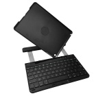 Wireless Bluetooth V3.0 78-Key Keyboard Case w/ Detachable Rotatable Stand for IPAD AIR - Black