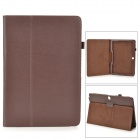 Stylish Flip-open PU Case w/ Holder + Pen Space for Samsung Galaxy Note 12.2 P900 - Brown