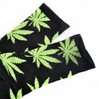 Cotton Thickened Leaves High Tube Socks