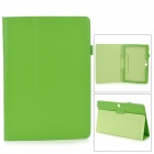 Stylish Flip-open PU Case w/ Holder + Pen Space for Samsung Galaxy Note 12.2 P900 - Green