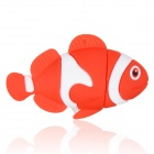 Cute Cartoon Fish Style USB 2.0 Flash Drive Disk - Red + White (4GB)