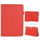 Stylish Flip-open PU Case w/ Holder + Pen Space for Samsung Galaxy Note 12.2 P900 - Red