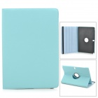 Stylish Flip-open PU Case w/ 360' Rotating Back for Samsung Galaxy Note 12.2 P900 - Light Blue