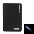 """12000mAh"" Dual USB Mobile Power Source Bank w/ LED Light for Samsung / HTC / Nokia - Black"