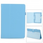 Stylish Flip-open PU Case w/ Holder + Pen Space for Samsung Galaxy Note 12.2 P900 - Light Blue