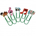 DEDO Stationery MG-15 Color Music Bookmark Clips - Multicolored (5 PCS)