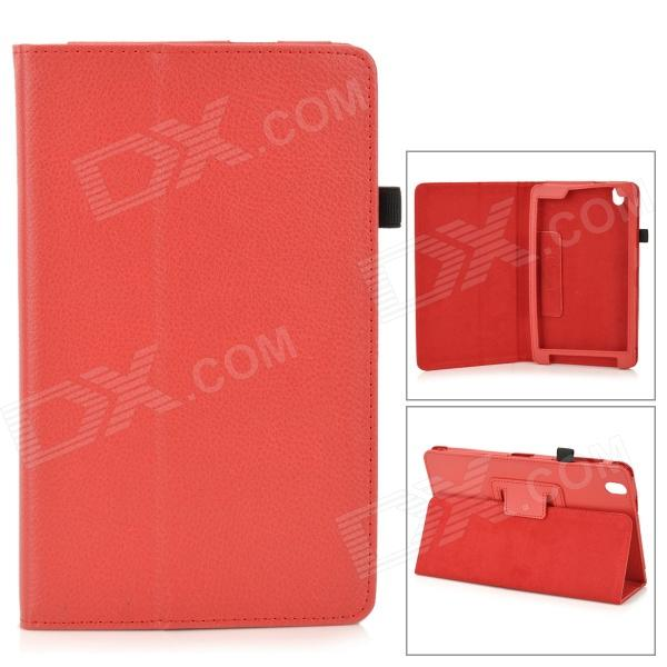 "Flip-open PU Leather Case w/ Holder + Pen Space for Samsung Galaxy Tab Pro 8.4"" T320 - Red"