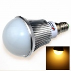ZHISHUNJIA E14 8W 680lm 3000K 16 x SMD 5630 LED Warm White Light Bulb - Silver + White (85~265V)
