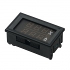 "Produino ST Master Chip 0.28"" LED Dual-Display DC Ammeter Voltmeter (0~100V 100A / Red Volt / Amp)"