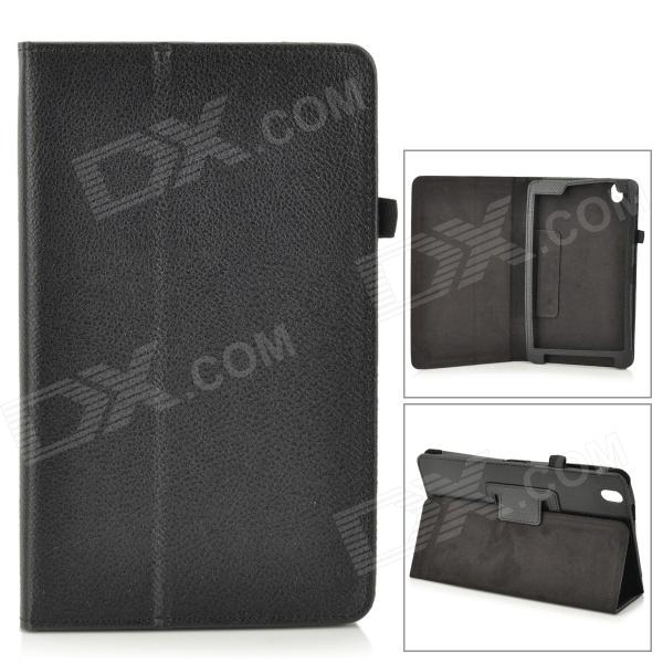 Flip-open PU Leather Case w/ Holder + Pen Space for Samsung Galaxy Tab Pro 8.4
