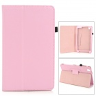 "Flip-open PU Leather Case w/ Holder + Pen Space for Samsung Galaxy Tab Pro 8.4"" T320 - Pink"