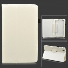 "Flip-open PU Leather Case w/ Holder + Pen Space for Samsung Galaxy Tab Pro 8.4"" T320 - White"