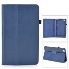 "Flip-open PU Leather Case w/ Holder + Pen Space for Samsung Galaxy Tab Pro 8.4"" T320 - Blue"