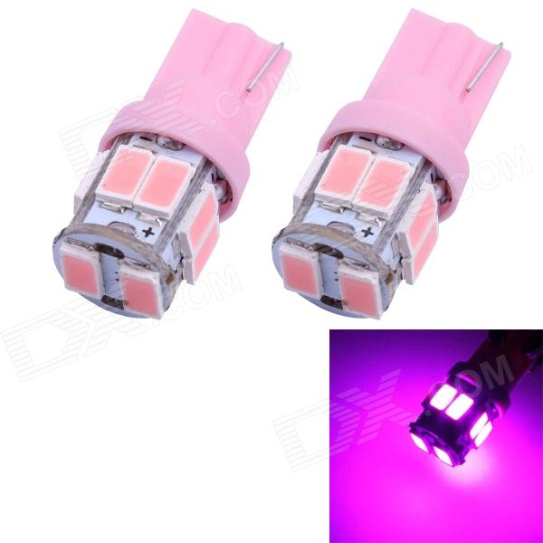 T10 5W 300lm 10 x SMD 5630 LED Pink Light Car Turn Signal Corner Parking Lamp - (DC 12V / 2 PCS) Salem Search and purchase