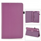 "Flip-open PU Leather Case w/ Holder + Pen Space for Samsung Galaxy Tab Pro 8.4"" T320 - Purple"