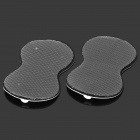 CN-915 Calabash Shaped Pin Style Electrode Patches for Massager - White + Black (2 PCS)