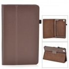 "Flip-open PU Leather Case w/ Holder + Pen Space for Samsung Galaxy Tab Pro 8.4"" T320 - Brown"