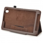 "Flip-open PU Leather Case w / Holder + Pen Space for Samsung Galaxy Tab Pro 8.4 ""T320 - Brun"