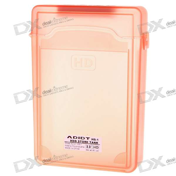"Protective Plastic Case for 3.5"" SATA HDD (Translucent Orange)"
