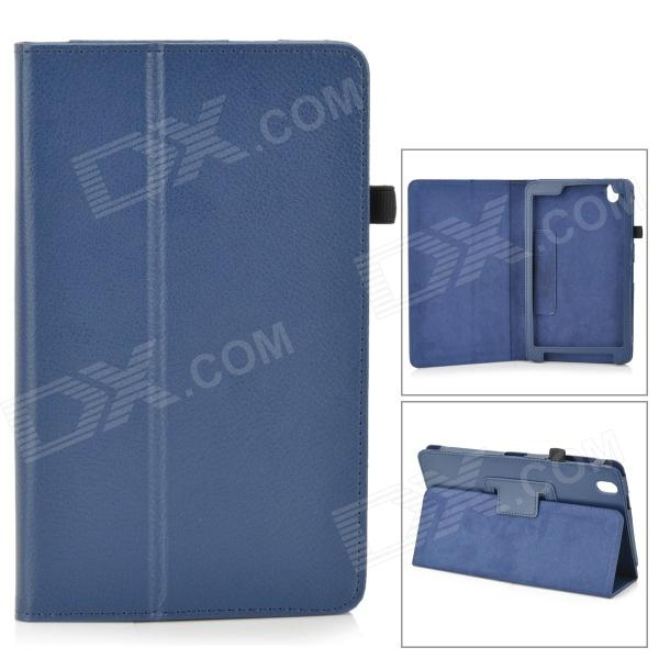 Flip-open PU Leather Case w/ Holder + Pen Space for Samsung Galaxy Tab Pro 8.4 T320 - Blue protective flip open pu case w holder stylus for samsung galaxy tab pro 8 4 t320 blue