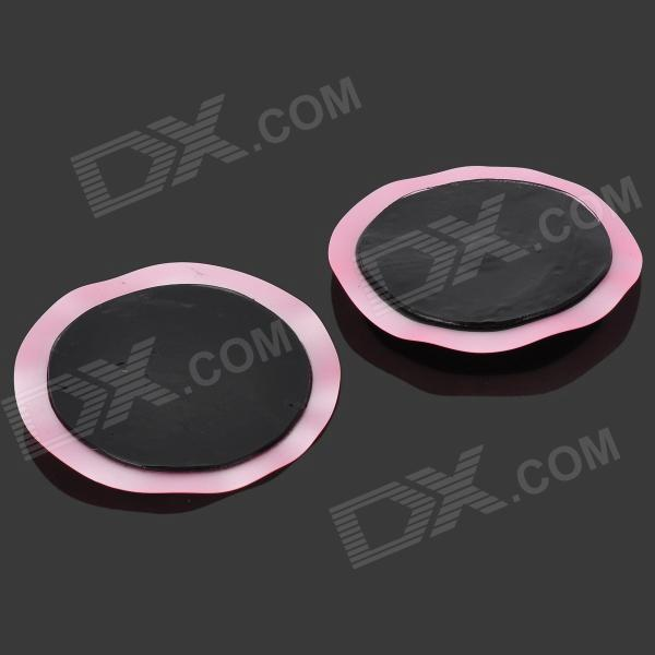 Round Shaped Massage Pad - Pink + Black (2 PCS / 4.5V)