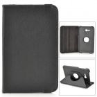 IKKI Flip-open PU Case w/ 360' Rotating Back for Samsung Galaxy Tab 3 Lite T110 - Black