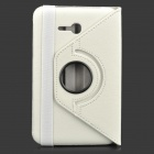 IKKI Flip-open PU Case w/ 360' Rotating Back for Samsung Galaxy Tab 3 Lite T110 - White