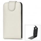 Protective PU Leather + Plastic Case for Samsung i9500 - White + Black