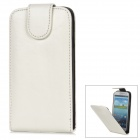 Protective PU Leather + Plastic Case for Samsung i9300 - White + Black
