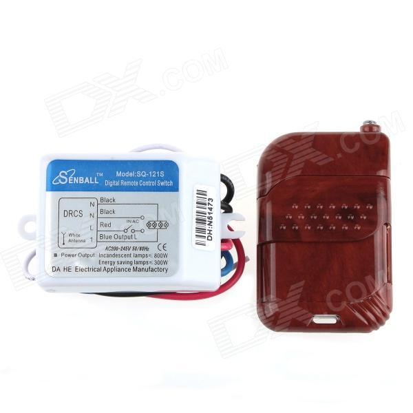 DIY SQ-121S AC 200-245V 1-Channel Digital Remote Control Switch after market peccinin remote control 433mhz replacement dhl free shipping