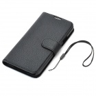 Flip-open PU Case w/ Stand / Card Slots for Samsung Galaxy S5 - Black