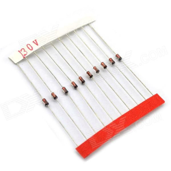 BONATECH 0.5W Axial Lead Zener Diode Set - Red + Silver (140 PCS / 3.3V-30V)