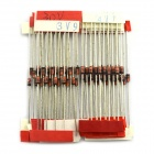 MaiTech 1W Axial Lead Zener Diode - Red + Silver (70 PCS / 3.3V-30V)