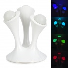 LT300 9W 3800LM 18 RGB LED Night Lamp w/ Detachable Luminous Pearl - White