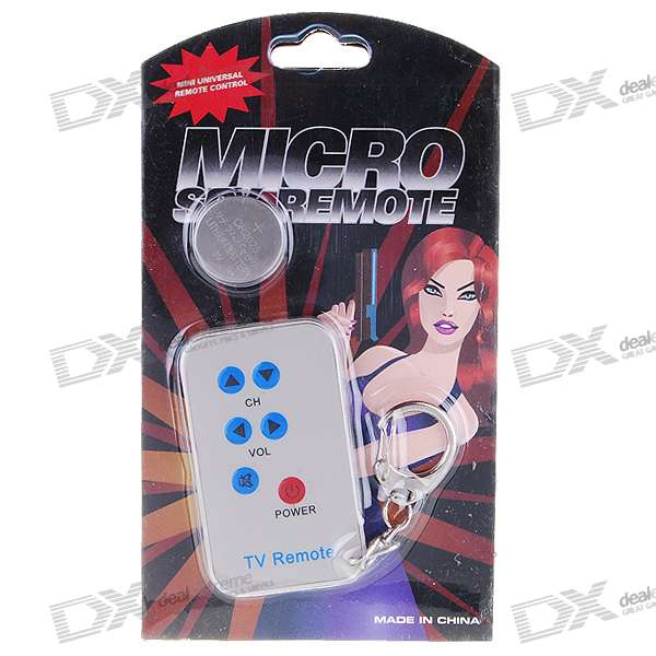 Mini Universal TV Remote Controller Keychain (1*CR2025)