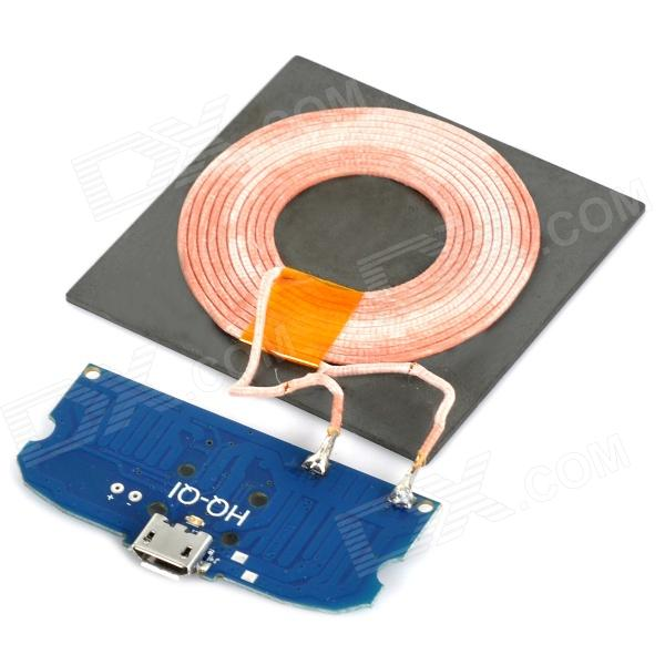 Universal 5V 1000mA DIY Qi Wireless Charging Transmitting Module w/ LED Indicator - Deep Blue