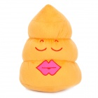LIT Creative Poo Style Flannel Gift Doll Toy - Yellow + Deep Pink