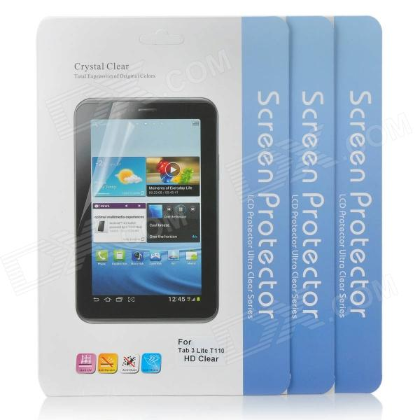 Protección Claro PET Screen Guard Film para Samsung Galaxy Tab 3 Lite T110 - Transparente (3 PCS)
